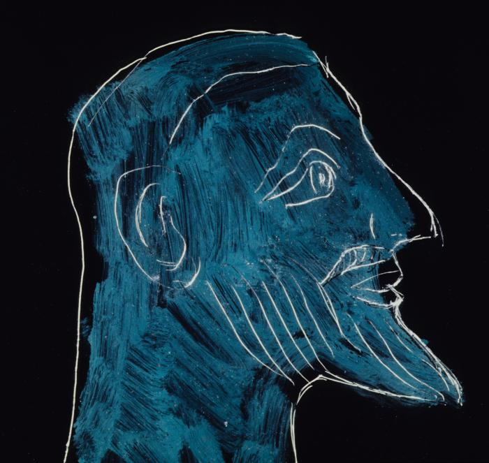 Man's Face in Profile