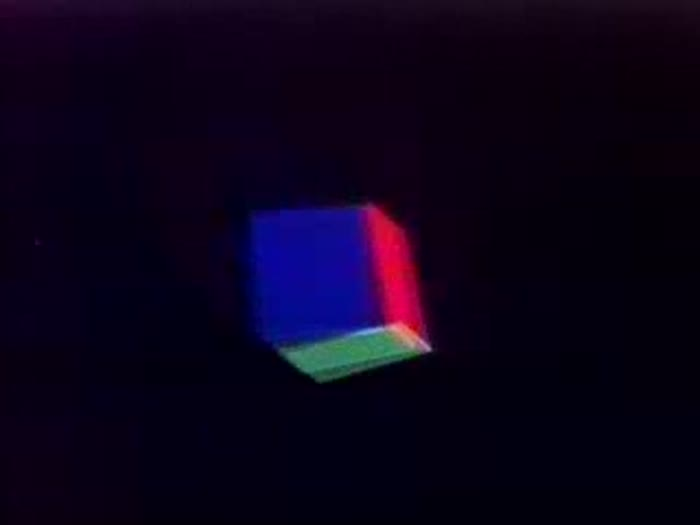 Floating Cube and Squares
